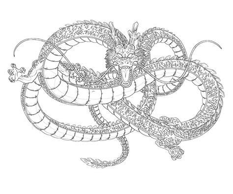 dragon ball z shenron coloring pages shenron dragon art paper