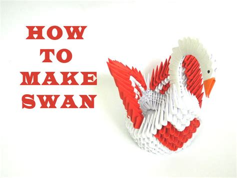 How To Make A Swan Origami - how to make 3d origami swan