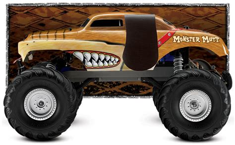 monster jam traxxas trucks traxxas monster jam monster mutt 1 10 scale 2wd monster