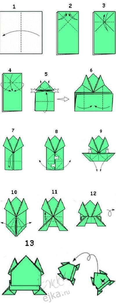 Origami Frog Steps - best 20 origami ideas on easy origami