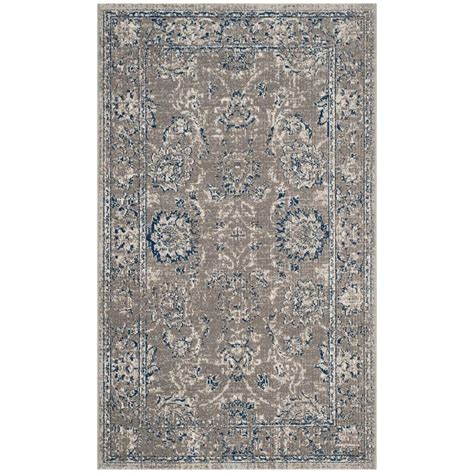 3 foot area rugs safavieh artisan grey blue 3 ft x 5 ft area rug atn316a 3 the home depot