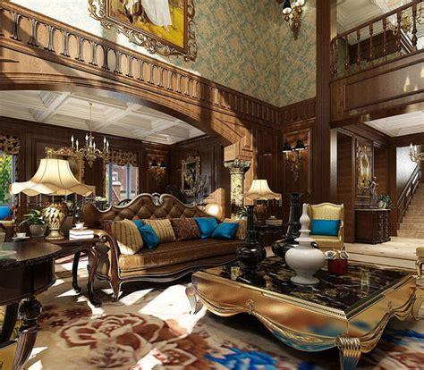 american living room europe  model cgtrader