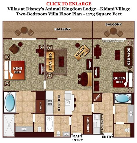 2 Bedroom Villa Floor Plans by Review Kidani Village At Disney S Animal Kingdom Villas