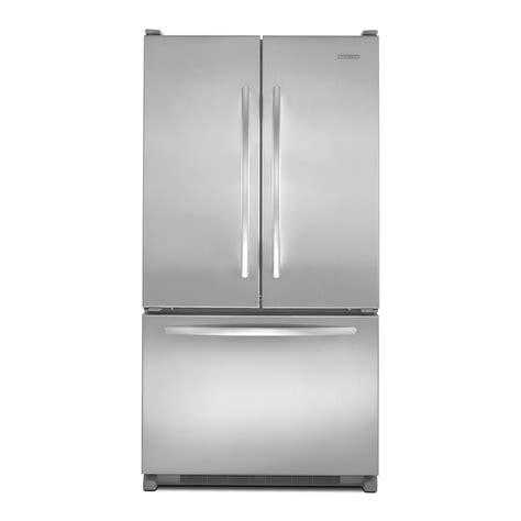 kitchenaid cabinet depth refrigerator shop kitchenaid architect ii 19 6 cu ft french door