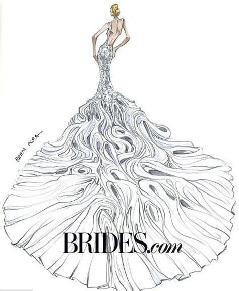 12 desainer buat sketsa gaun pengantin untuk 2