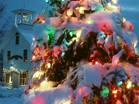 christmas tree lights snow ls ideas