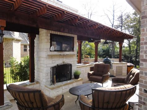 outdoor kitchen and fireplace designs landscape contractors residential commercial fort worth tx