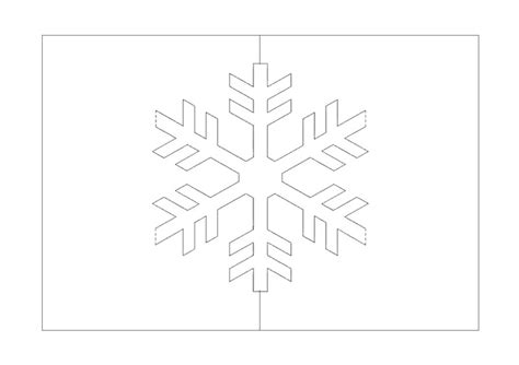 snowflake pop up card jina s