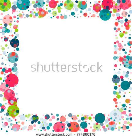 festive confetti frame border childish colorful stock