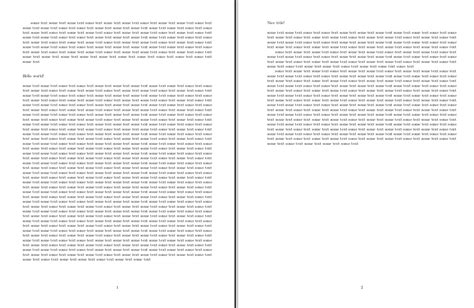 define section break sectioning getting the page breaks right for a