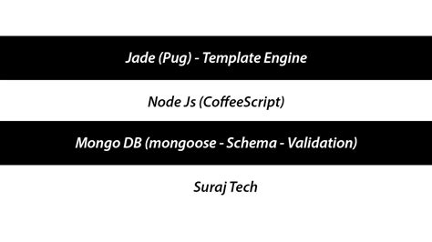 Node Js Resume by Jade Pug Template Engine Node Js Mongo Db Mongoose
