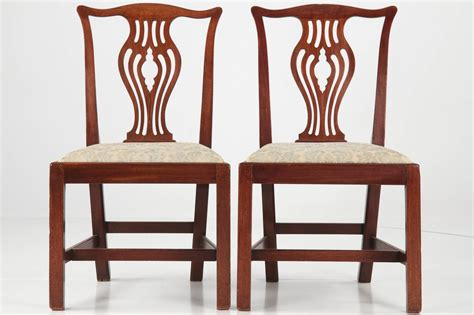 set of ten chippendale antique mahogany dining