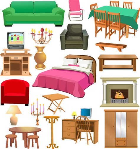 bedroom furniture clipart a variety of furniture clip free vector 4vector