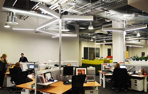 open office lighting design open ceilings and exposed services required ultra modern