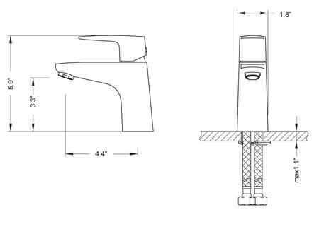 kitchen sink faucet hole size diveria single hole faucet chrome bathgems com