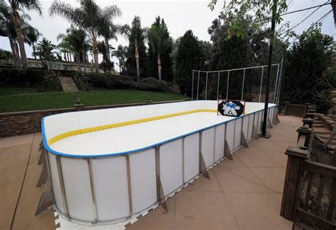 backyard rink kit synthetic ice basement and backyard rink kits hockey