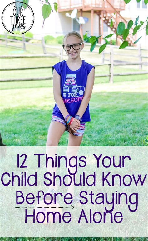 12 things your child should before staying home alone
