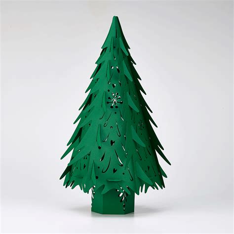 small forest green christmas tree made in ur sussex laser