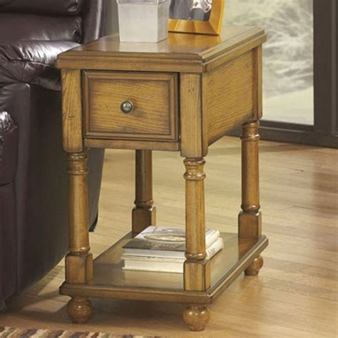 chairside end table with drawers signature design by ashley furniture breegin 1 drawer