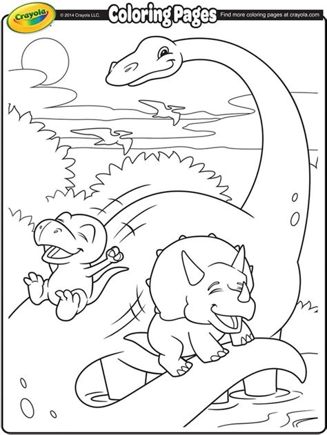 dinosaur coloring pages crayola brachiosaurus and dinosaur friends coloring page crayola com