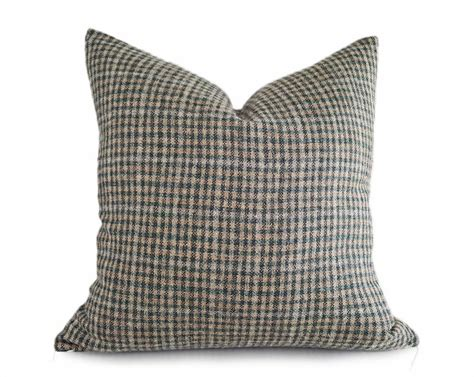 green plaid pillow cover rustic throw pillows textured