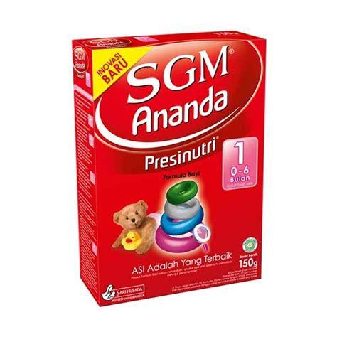 Sgm Bayi 0 6 Bulan jual sgm ananda presinutri 1 formula box 150gr