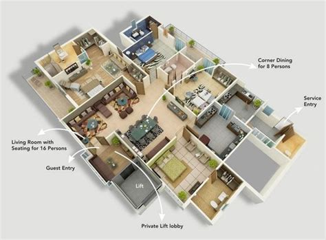 4 bedroom luxury apartment floor plans 50 four 4 bedroom apartment house plans bedroom