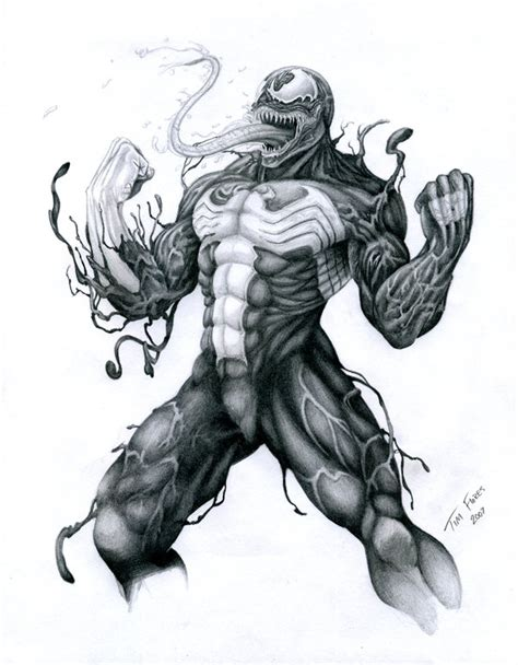 Drawing Venom by Venom Drawings Pictures To Pin On Pinsdaddy