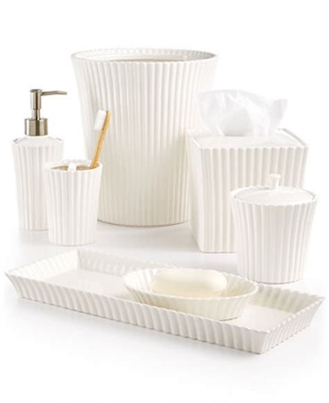 martha stewart bathroom accessories martha stewart collection ceramic scallop bath accessories only at macy s bathroom