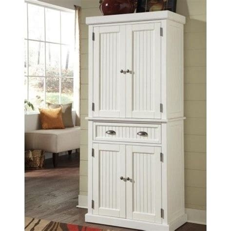 White Pantry Cupboard by White Wood Pantry Linen Cabinet Kitchen Bathroom