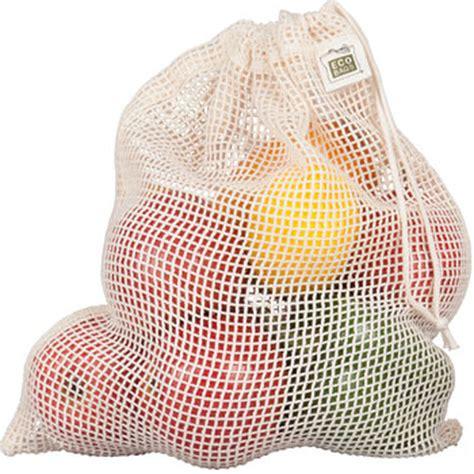 ecobags 174 organic net drawstring bag reusable drawstring