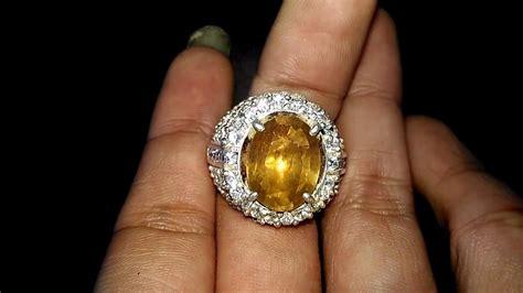 Yakut Ceylon Srilangka batu cincin permata yellow safir kuning yakut asli kode