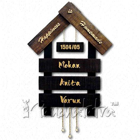 house plates designs buy big nameplate design of house with 3 plates for names online in india panchatatva
