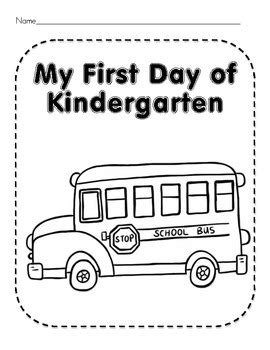 kindergarten activities for the first day of school first day of kindergarten worksheets and activities by