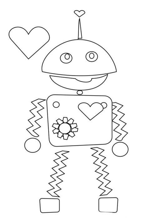 robot valentine coloring page coloring pages coloring and valentines on pinterest