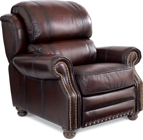 lazy boy high leg recliners jamison traditional high leg leather recliner by la z boy