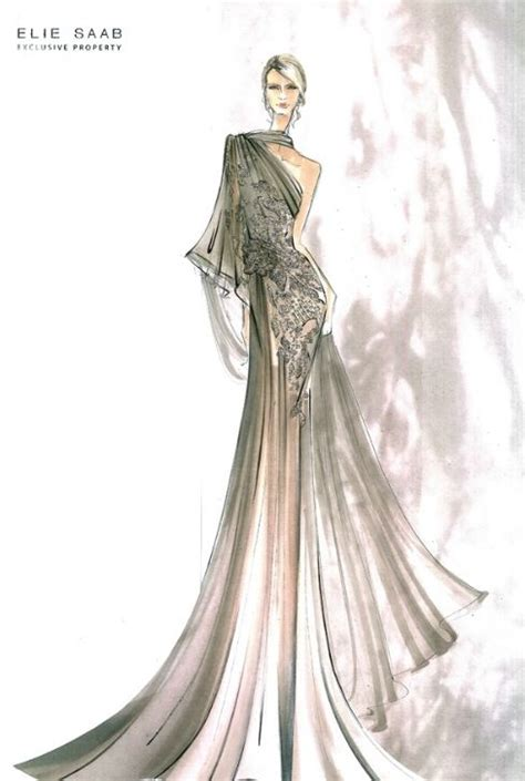 fashion illustration elie saab elie saab fashion illustration bocetos sketches