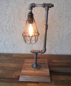 Spectacular diy industrial lamp with wire case around the light source