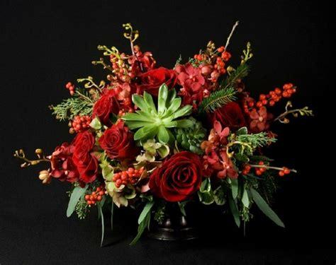 arreglos florales navide241os decorar con flores plantas