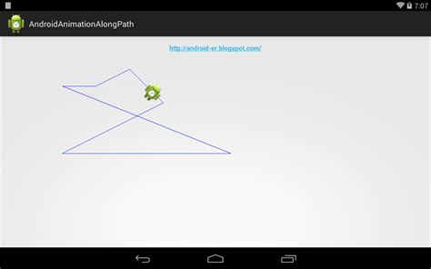 android layout move animation android er animation of moving bitmap along path