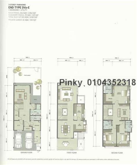 zenia layout plan 3 sty terrace link house for sale in zenia parkhomes