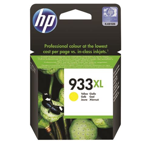 Cartridge Hp 933xl Yellow hp 933xl yellow officejet inkjet cartridge cn056ae a2b