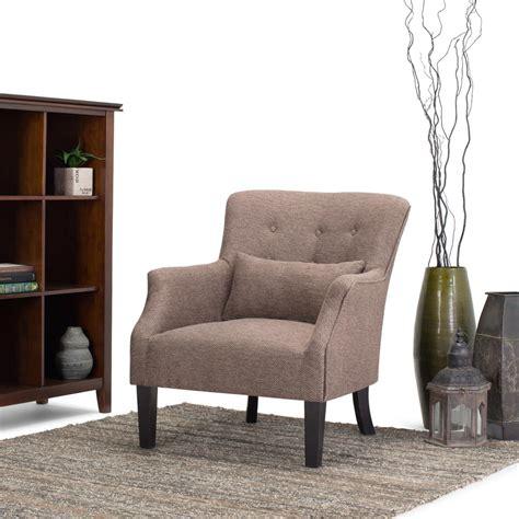 Club Arm Chair Design Ideas Simpli Home Erril Java Fabric Club Arm Chair Axcchr 015 The Home Depot