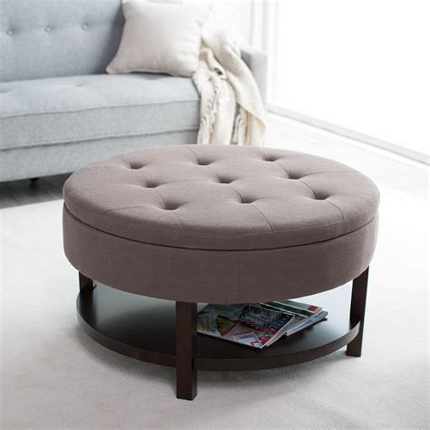 Large Round Tufted Ottoman Style Decor Trends Large Ottoman Styles