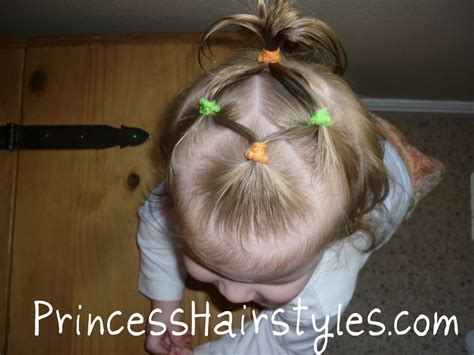 infant hairstyles baby hairstyles 4 connecting ponytails hairstyles for