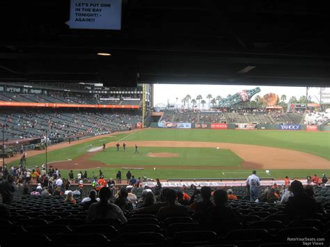 view available seats aa at t park section 109 san francisco giants