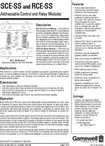 A2143-20 datasheet - Addressable Control and Relay Modules