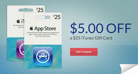 print off itunes gift card print 5 off 25 itunes gift card coupon at rite aid