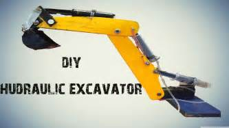 how to make a syringe operated hydraulic excavator jcb