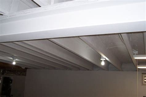 How To Paint Exposed Ceiling by How To Paint A Basement Ceiling With Exposed Joists For An